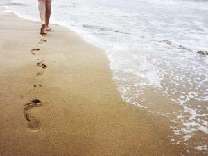 άμμος περπάτημα συναισθήματα παρελθόν