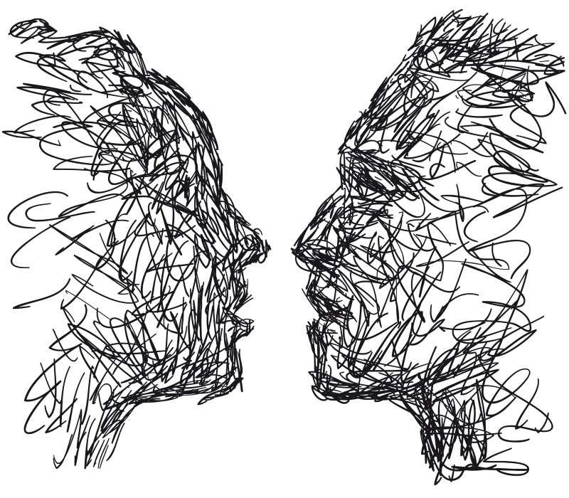 Σκίτσα δύο ανθρώπων του μέλλοντος
