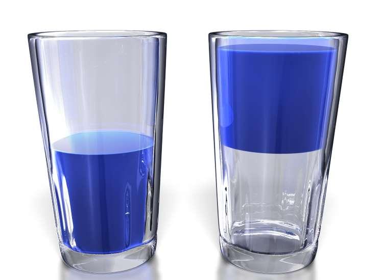 Τεστ: Βλέπετε το ποτήρι μισογεμάτο ή μισοάδειο;