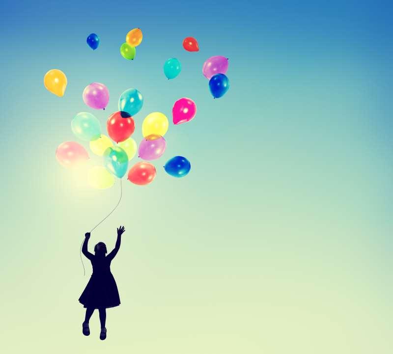 όνειρο μπαλόνια παιδί