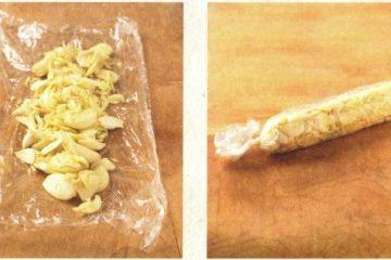Πώς να αποθηκεύσετε το σκόρδο στην κατάψυξη σε μορφή ρολού