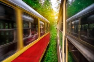 τρένο παρελθόν μέλλον τοπίο