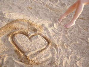 άμμος καρδιά γη συναισθήματα