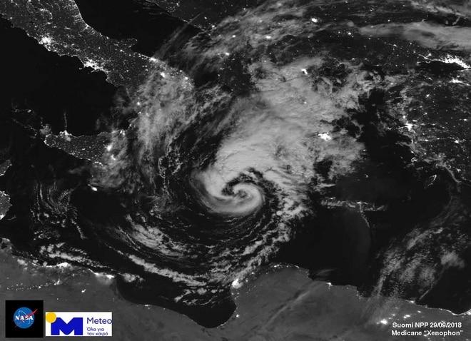 Η εντυπωσιακή φωτογραφία του κυκλώνα Ζορμπά από τη NASA