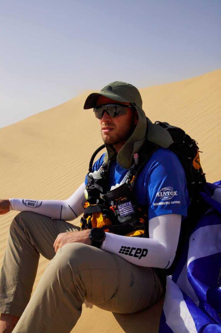 Ο Μάριος Γιαννάκου μας κάνει περήφανους ακόμη μια φορά τερματίζοντας σε αγώνα 270 χιλιομέτρων στην έρημο!