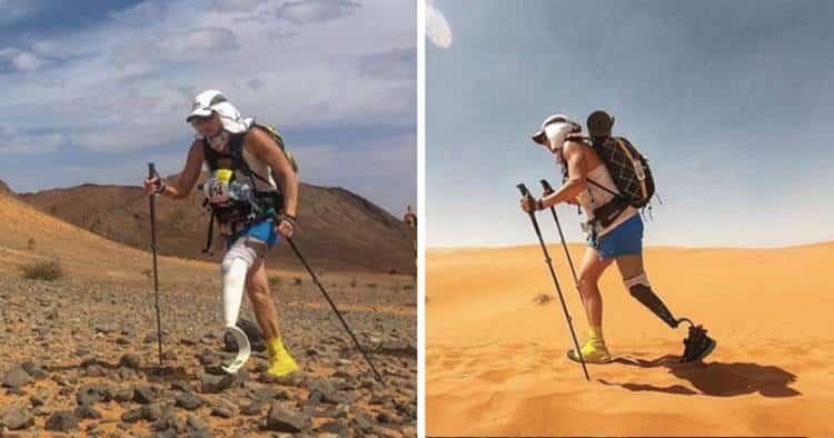 Αθλήτρια με τεχνητό πόδι και τεράστια δύναμη ψυχής τερμάτισε στον δυσκολότερο μαραθώνιο του κόσμου