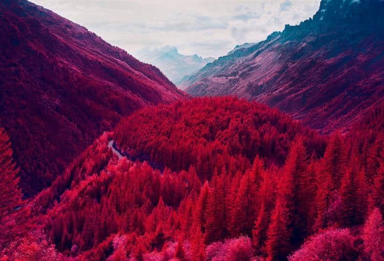 Φωτογράφος αναδεικνύει τα παραμυθένια τοπία των Ελβετικών Άλπεων με υπέρυθρο φως