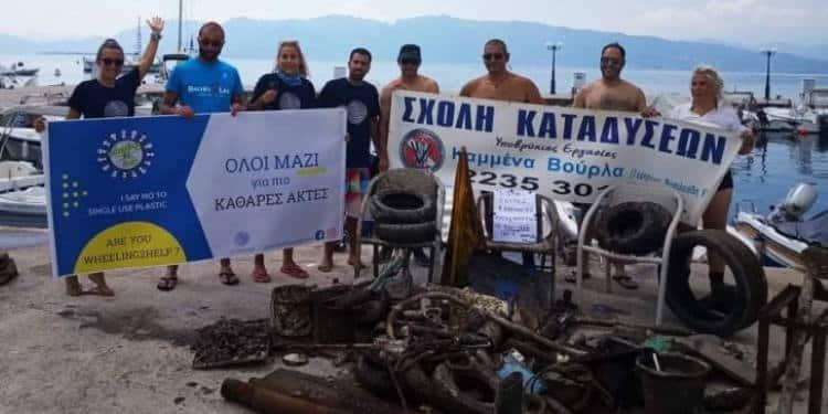 Φθιώτιδα: Δύτες ανέσυραν 250 κιλά σκουπιδιών από τη θάλασσα μέσα σε μία ώρα