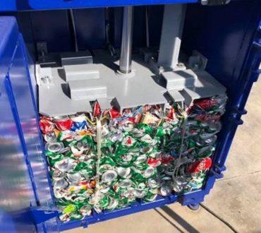 Ο πρώτος συμπιεστής ανακυκλώσιμων βρίσκεται στο λιμάνι της Σκύρου