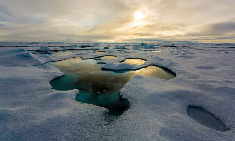 Κομμάτια πλαστικού πέφτουν μαζί με το χιόνι στην Αρκτική