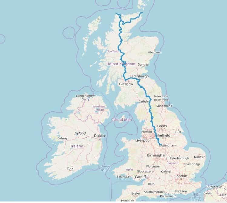 Μ.Βρετανία: Ποδηλατόδρομος 1.300 χιλιομέτρων συνδέει την Αγγλία με τη Σκωτία