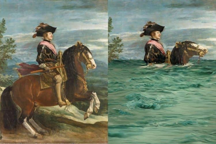 Η WWF και το μουσείο Prado αλλάζουν διάσημους πίνακες και δείχνουν τις επιπτώσεις της κλιματικής αλλαγής