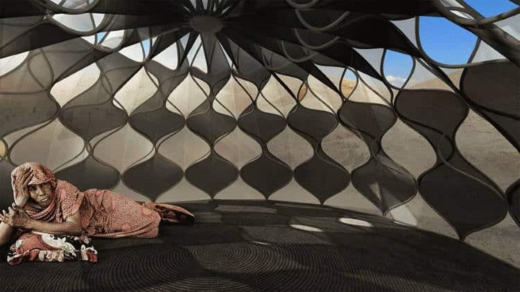 Αρχιτέκτονας εφηύρε σκηνή που συλλέγει βρόχινο νερό και αποθηκεύει ηλιακή ενέργεια