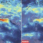 Δορυφορικές εικόνες αποκαλύπτουν μεγάλη μείωση της ρύπανσης κατά την καραντίνα του κορονοϊού