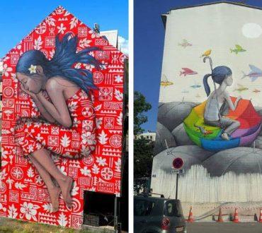 Καλλιτέχνης ταξιδεύει σε όλο τον κόσμο και μεταμορφώνει μουντά κτίρια σε πολύχρωμους καμβάδες (Φωτογραφίες)