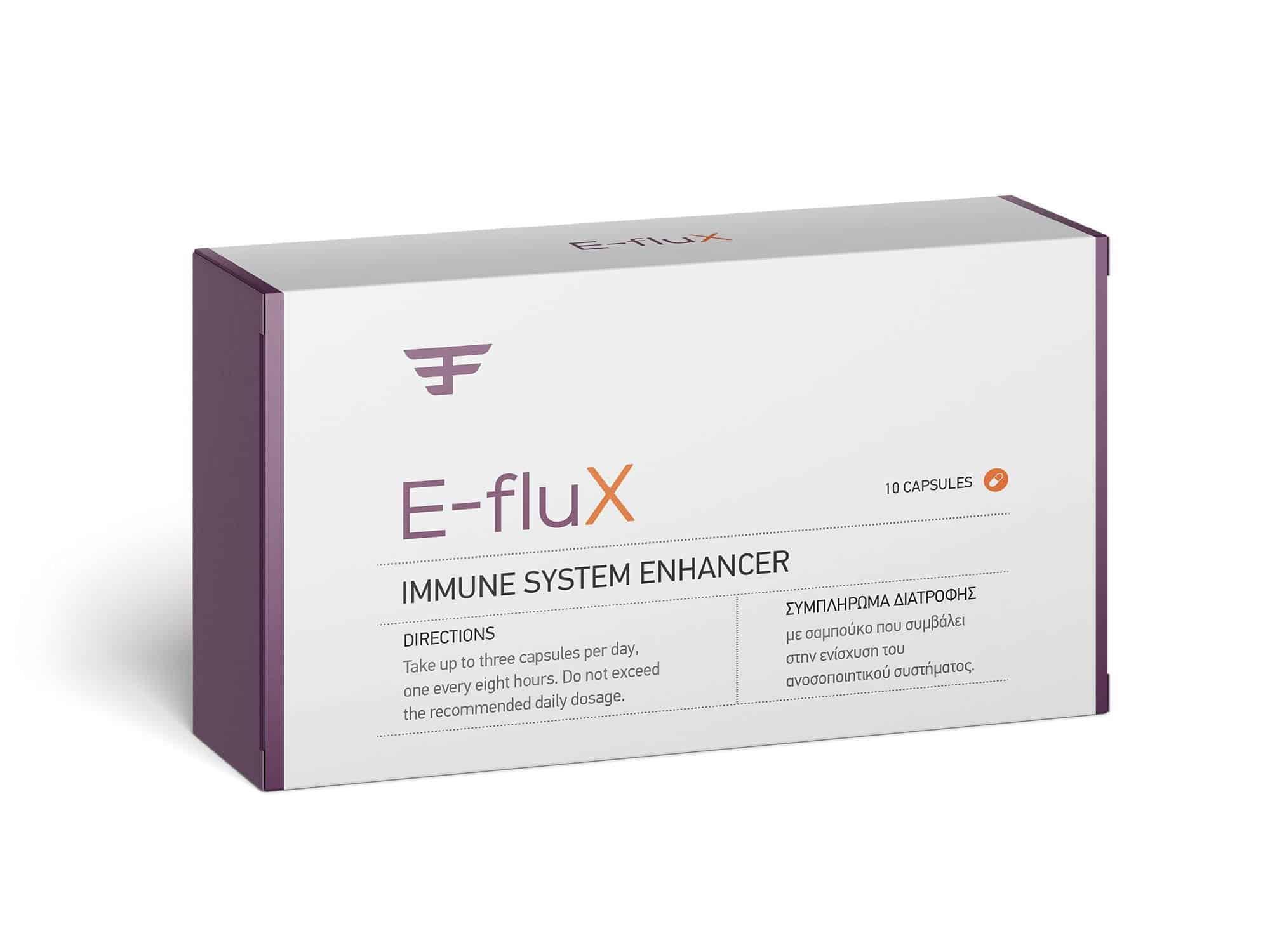 E-fluX: Το συμπλήρωμα διατροφής που προλαμβάνει και προστατεύει από τους ιούς της γρίπης και του κρυολογήματος