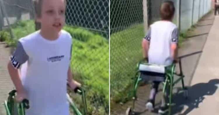 Μ. Βρετανία: Αγόρι με εγκεφαλική παράλυση περπατάει 2.500 μέτρα και συγκεντρώνει 65.000 ευρώ για τα θύματα του κορονοΐού