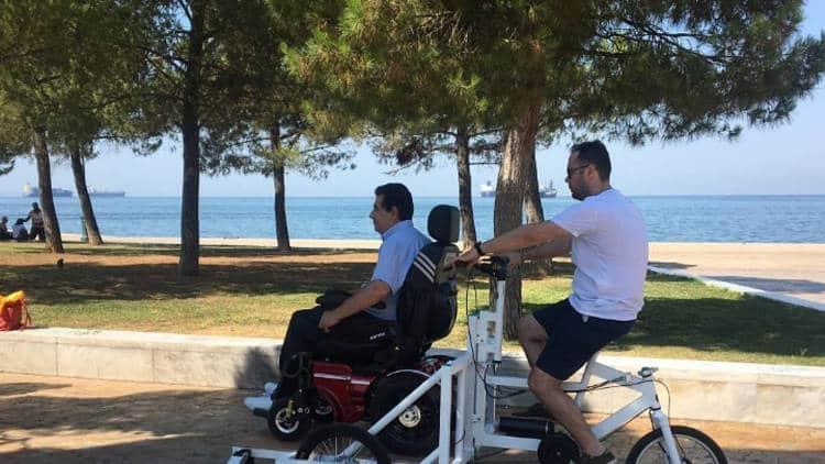 Το πρώτο πανελλαδικά κοινόχρηστο ποδήλατο για ΑμεΑ βρίσκεται στη Θεσσαλονίκη