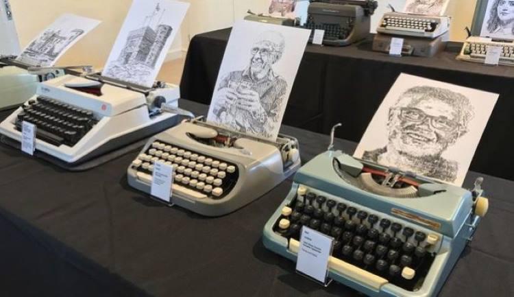 Βρετανία: Φοιτητής δημιουργεί πορτραίτα χρησιμοποιώντας μόνο τη γραφομηχανή του