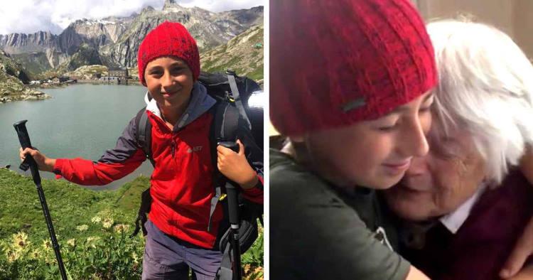 10χρονο αγόρι περπάτησε 2.800 χιλιόμετρα με τον πατέρα του για να βρει την αγκαλιά της γιαγιάς του