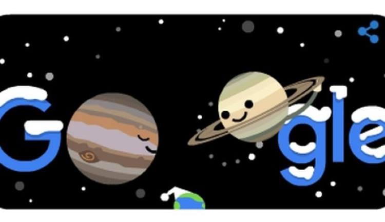 """Η Google τιμά την επίσημη έναρξη του χειμώνα και τη """"σύζευξη"""" του Δία με τον Κρόνο"""