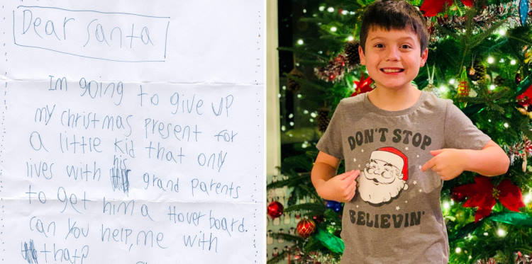 9χρονο αγόρι έγραψε στον Άγιο Βασίλη ζητώντας του να δώσει το δώρο του σε ένα παιδί που πενθεί