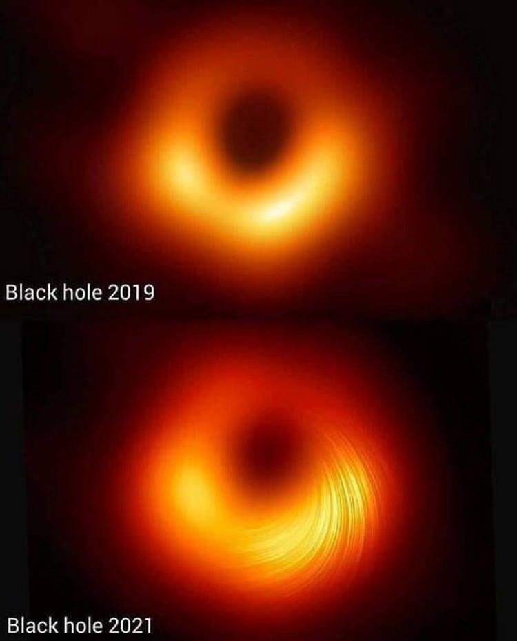 Νέα φωτογραφία της μαύρης τρύπας του γαλαξία Messier87 απεικονίζει τα μαγνητικά της πεδία!