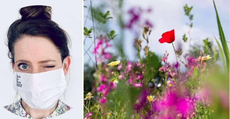 Ολλανδία: Βιοδιασπώμενες μάσκες μετατρέπονται σε λουλούδια αφού θαφτούν
