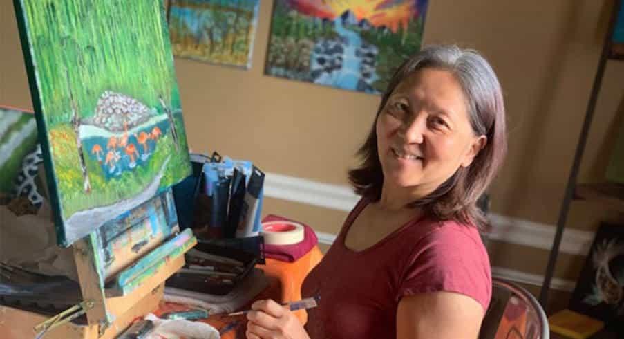Αναγκάστηκε να χρησιμοποιεί το αριστερό της χέρι μετά από εγκεφαλικό και ανακάλυψε το ταλέντο της στη ζωγραφική!