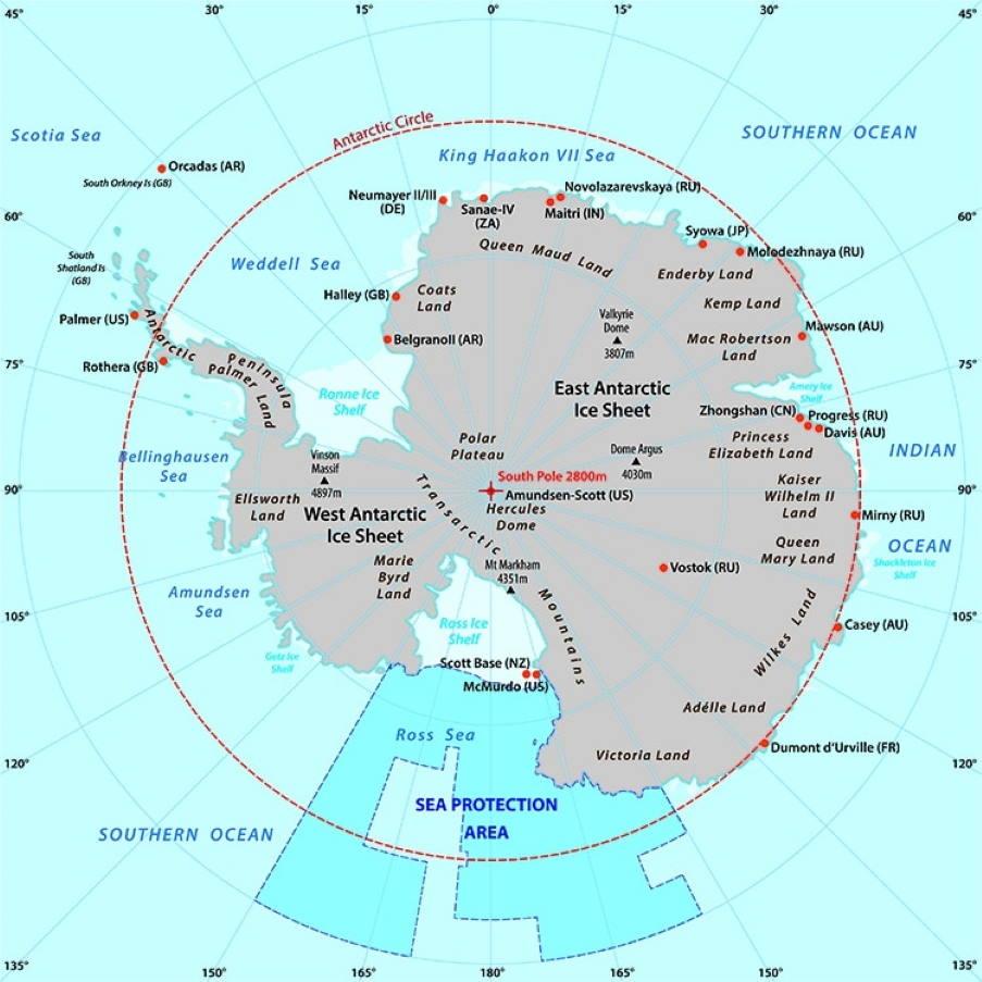 Ο Νότιος Ωκεανός αναγνωρίστηκε και επισήμως ως ο 5ος ωκεανός του πλανήτη