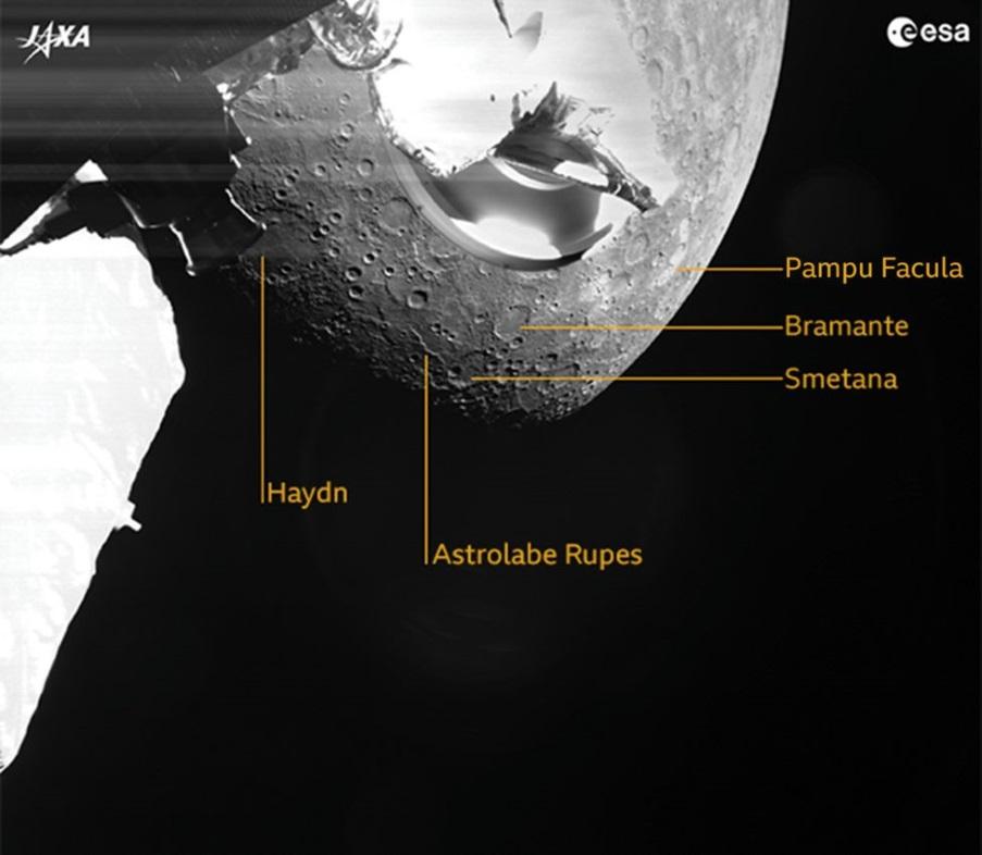 BepiColombo: Η αποστολή της Ευρώπης στον Ερμή έστειλε τις πρώτες εικόνες