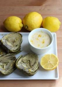 Συνταγή κρέμα αγκινάρας με κάσιους και λεμόνι