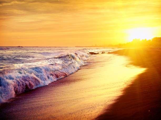τοπίο θάλασσα ηλιοβασίλεμα